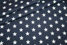 Swafing Jersey Stoff kleine Sterne blau dunkelblau 1m