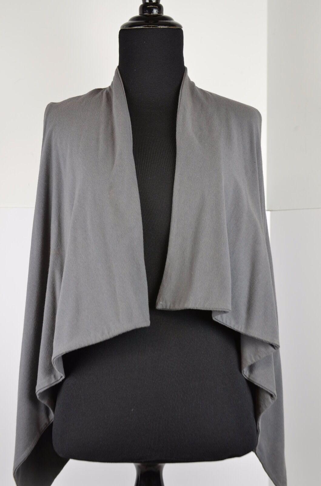 Majestic Paris Women's Sleeveless Shawl Vest Wrap Size 2 Cashmere Cotton Blend
