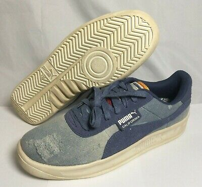Puma California Mens Shoes Denim Dark Vintage Sneakers Distressed Blue  369933_01 | eBay