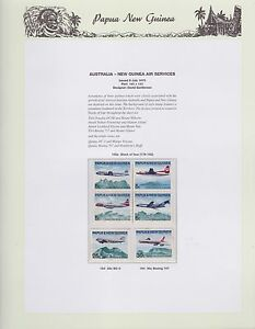 1970-PNG-PAPUA-NEW-GUINEA-Australia-Air-Services-STAMP-SET-K-422