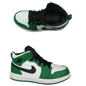 Air-Jordan-1-Mid-SE-PS-Pine-Green-Black-Sail-Size-13-5C-Toddler-NEW-BQ6932-301