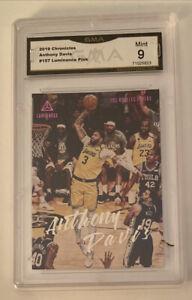 2019 Panini Chronicles Anthony Davis Lakers GMA 9 Mint #157 Luminance PSA