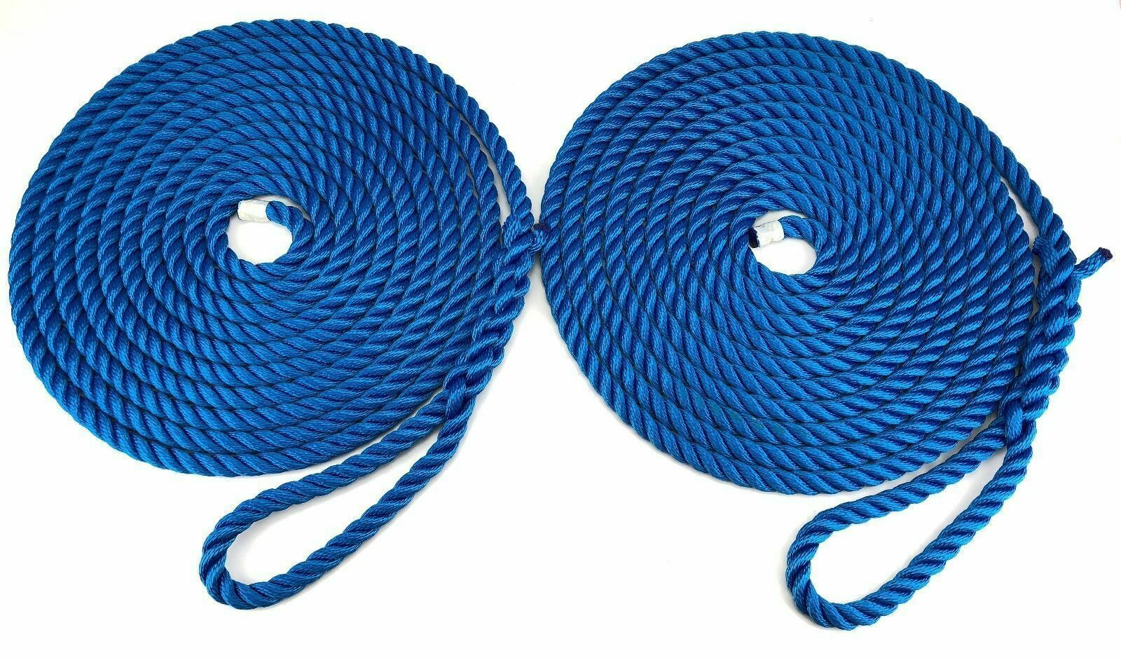10mm-FLOATING-MOORING-ROPES--EYE-SPLICED-3-STRAND-ROYAL blueE IN PAIRS X 16MTS