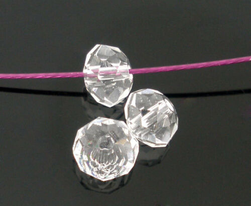 200 Crystal Quartz Nice Faceted Rondelle Beads 5040 4mm