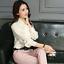 Womens-Satin-Silk-Button-Down-Blouse-Top-Bow-Tie-Neck-Shirt-Long-Sleeve-Zhou8 thumbnail 7