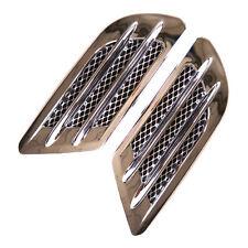 Car Simulation Vent Fender Side Air Flow Intake Grille Duct Shark Gills Sticker
