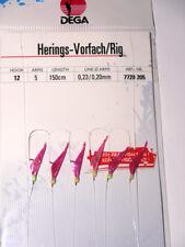 DEGA Mini-Heringsvorfach mit echter Fischhaut  035//0,30mm Hg.12  5 Seitenarme