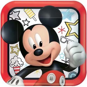 Image is loading MICKEY-MOUSE-On-the-Go-LARGE-PAPER-PLATES- & MICKEY MOUSE On the Go LARGE PAPER PLATES (8) ~ Birthday Party ...