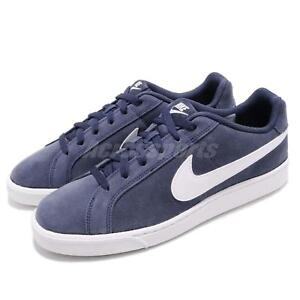 82f0ab9e54fd2 Image is loading Nike-Court-Royale-Suede-Midnight-Navy-White-Men-