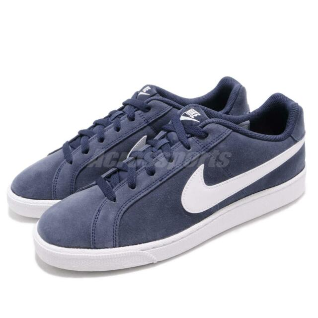 Nike Court Royale Suede Midnight Navy White Men Casual Shoes Sneakers  819802-410