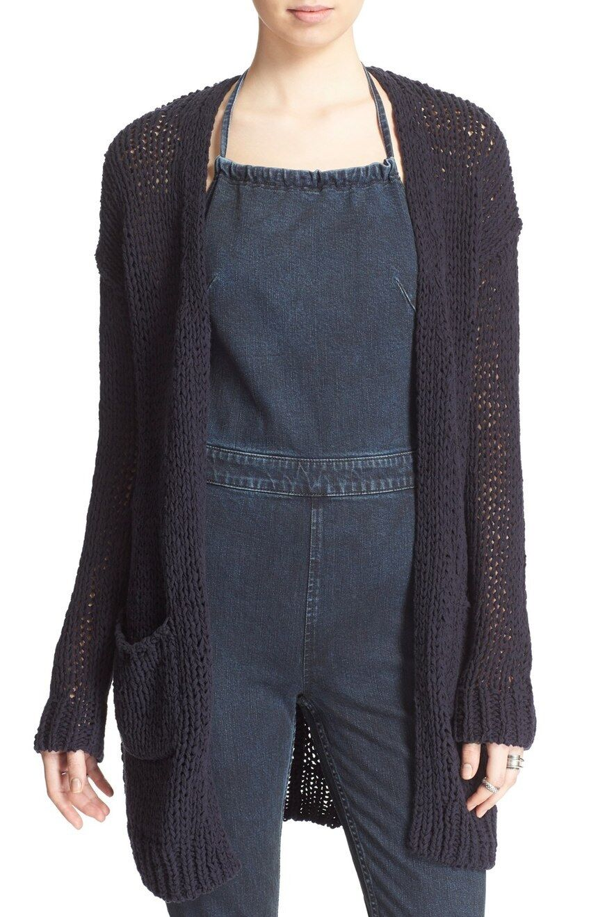 Free People Simpy Sienna Cardigan Navy Combo - Small MSRP  148