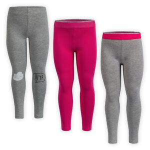 Girls-Full-Length-Jersey-Cotton-Leggings-Elasticated-Waistline-Kids-Trousers