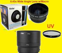 0.43x Wide Angle Lens 72mm+uv Filter+adapter Canera Nikon Coolpix P600 P610 B700