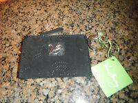 Vera Bradley Pocket Id Black Wallet