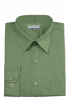 Boys Formal Suits Shirt Gray Lilac Green Blue Ivory White Taupe Yellow sz 12M-20