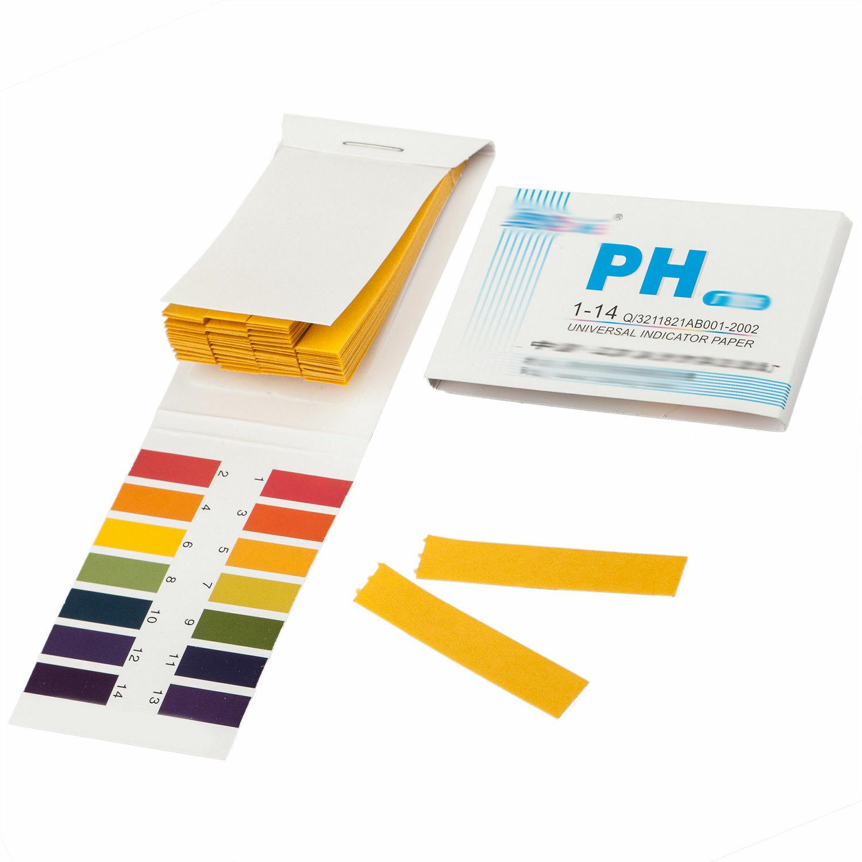80 PH Test Strips - Measures from 1 to 14 Alkaline Acid Litmus Testing Paper