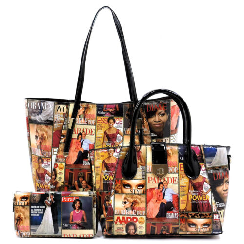 Michelle portemonnee Satchel 1 Magazine set tashandtas Obama 3 in UqpVSzM