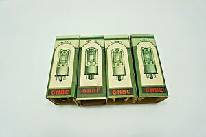 MATCHED-QUAD-6N8S-6SN7-1578-MELZ-TUBES-TESTED-BY-ROETEST-V10-NOS-DATE-1956
