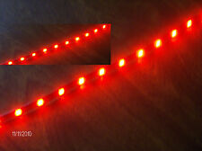 "SMART VOLVO LEXUS JAGUAR  RED 12"" 5050 SMD LED STRIPS TOTAL  24 LEDS"