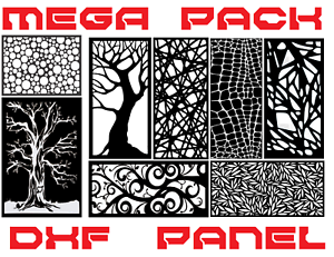 2000 PANELS  vector dxf dwg cdr File plasma laser wall art decoration metal cut