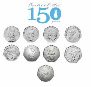 Beatrix-Potter-50p-Pieces-Cinquante-Pence-Peter-Rabbit-Tom-Chaton-Jeremy-Fisher