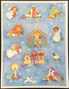 Vintage Stickers Hallmark Christmas Mint Condition!!