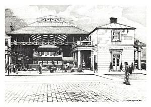 Covent Garden by Vere Smith NEW Postcard Art Sketch 1984 The Old Flower Market