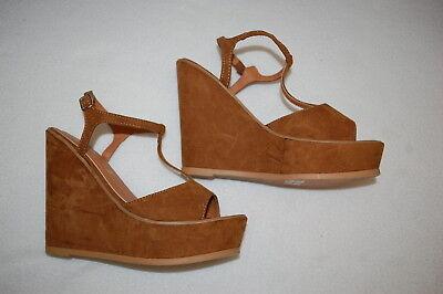 Sesto Meucci Womens Bard Black Vaquetilla Ankle Strap Heels Size 10