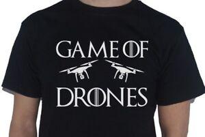 Juego-de-drones-T-Shirt-Juego-de-Tronos-Tee-Tshirt-divertido-de-Superdry-de-inspiracion-parodia