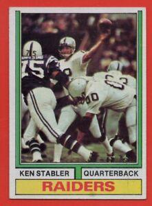 1974-Topps-451-Ken-Stabler-EX-EXMINT-Oakland-Raiders-HOF-AP-FREE-SHIPPING