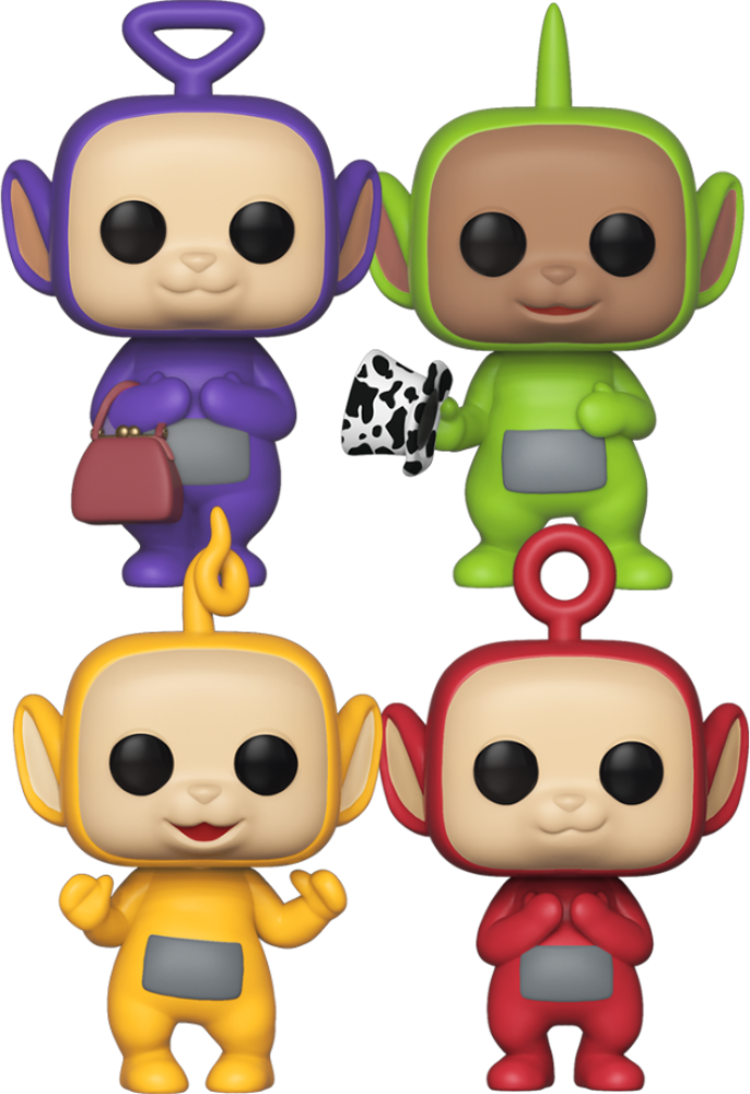 Teletubbies Dipsy Po Tinky Winky Laa-Laa Set Funko Pop Vinyls New in Boxes