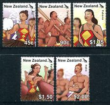 NEW ZEALAND 2006 UNISSUED Kapa Haka set (5) MNH, fine and most RARE