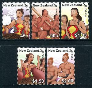 NEW-ZEALAND-2006-UNISSUED-Kapa-Haka-set-5-MNH-fine-and-most-RARE