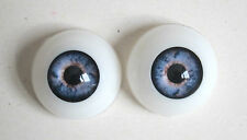 paire yeux demi-rond bleu 20mmR01 poupée MODERNE/Vintage/Reborn Artist doll eyes