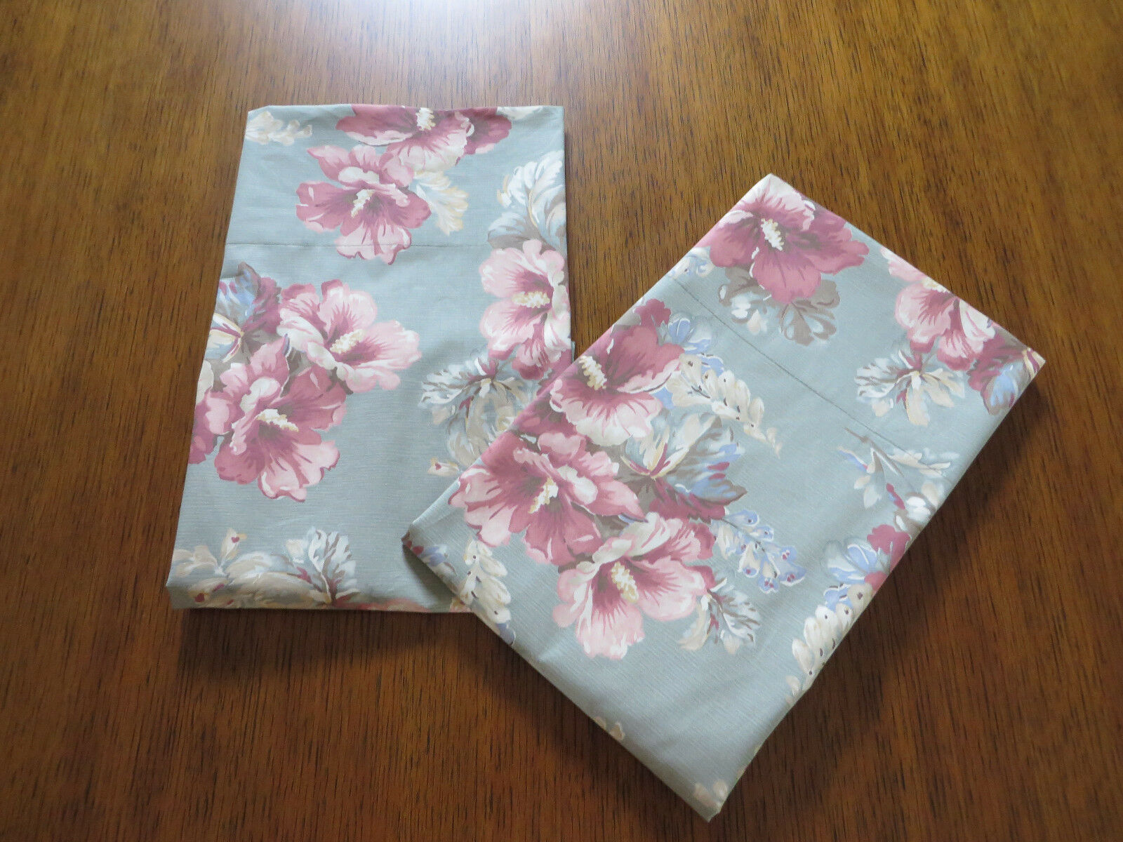 Ralph Lauren Shetland Manor KING Size Pillowcases ONE PAIR New