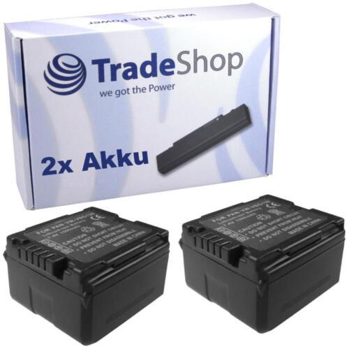 Batería 2x para Panasonic vw-vbg130//e-k vw-vbg070//e-k vw-vbg260//e-k con chip info
