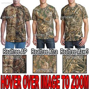 Russell-Mens-Camo-T-Shirt-Realtree-Xtra-Max-5-AP-Cotton-Hunting-S-XL-2X-3X-NEW