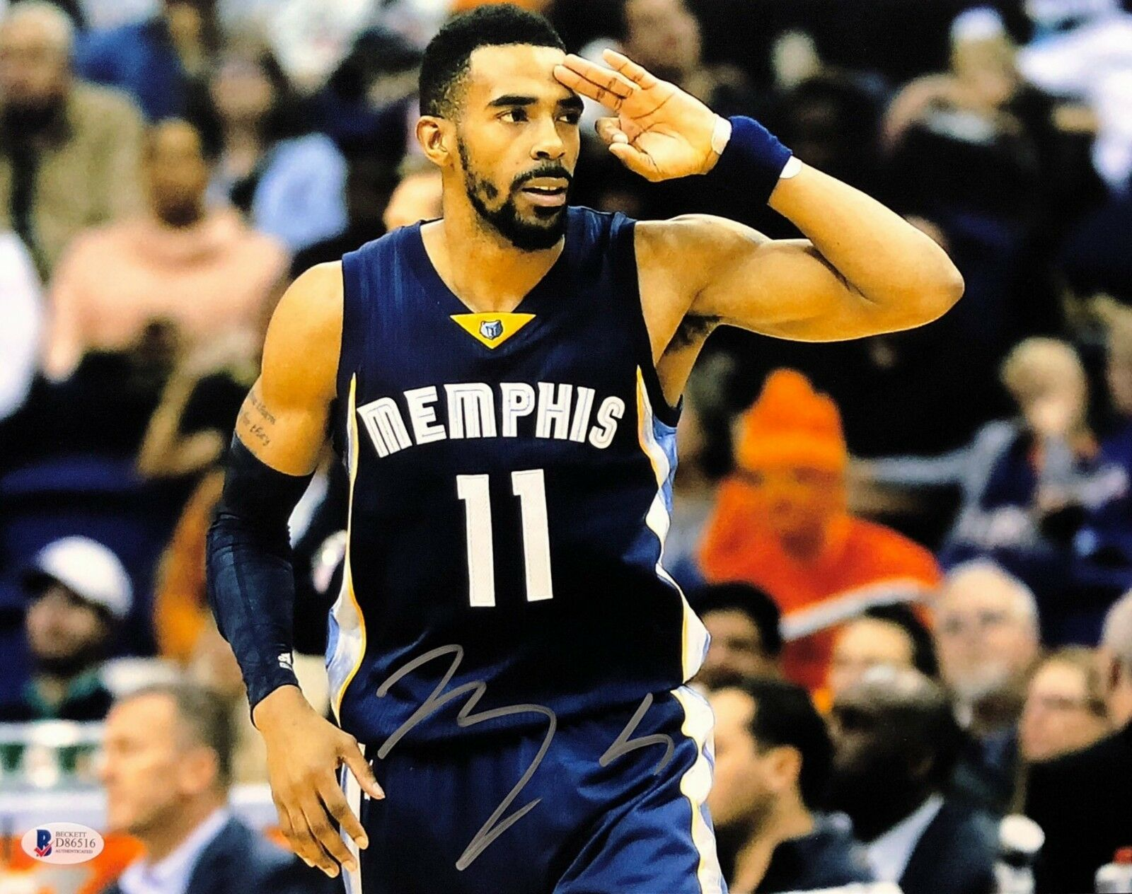 Mike Conley Signed Memphis Grizzlies 11x14 Basketball Photo Beckett BAS D86516