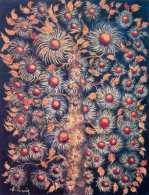 Bouquet Maler des heiligen Herzens Seraphine Louis Strauß Naive Kunst H A3 654