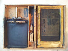 Vintage Antique Silk Screen Printing Portable Duplicator Kit And Box circa 1940s