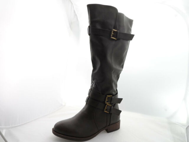 ad562172cae Brinley Co. Womens Tall Wide Calf Buckle Detail BOOTS for sale ...