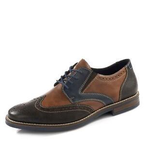 Details zu Rieker Herren Schnürschuhe Halbschuhe Business Schuhe Schuhe brauncognacblau