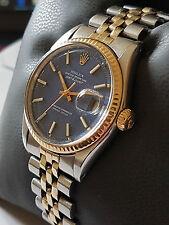 Rolex Datejust acciaio/oro quadrante blu, numero di modello 1601