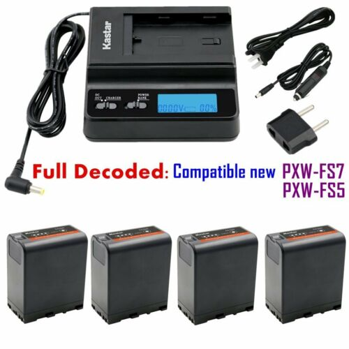 BP-U66 Battery & Fast Charger for Sony PMW-EX260 PMW-EX280 PMW-F3 PMW-F3K