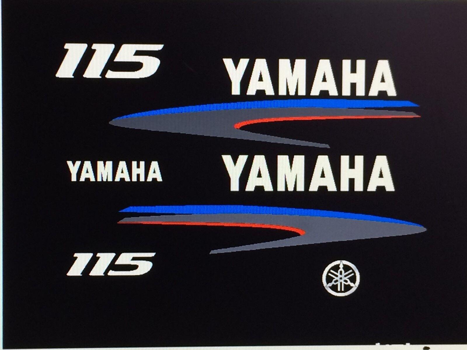 Yamaha 2-Stroke 100 115 150hp Outboard Decal Kit   Marine vinyl