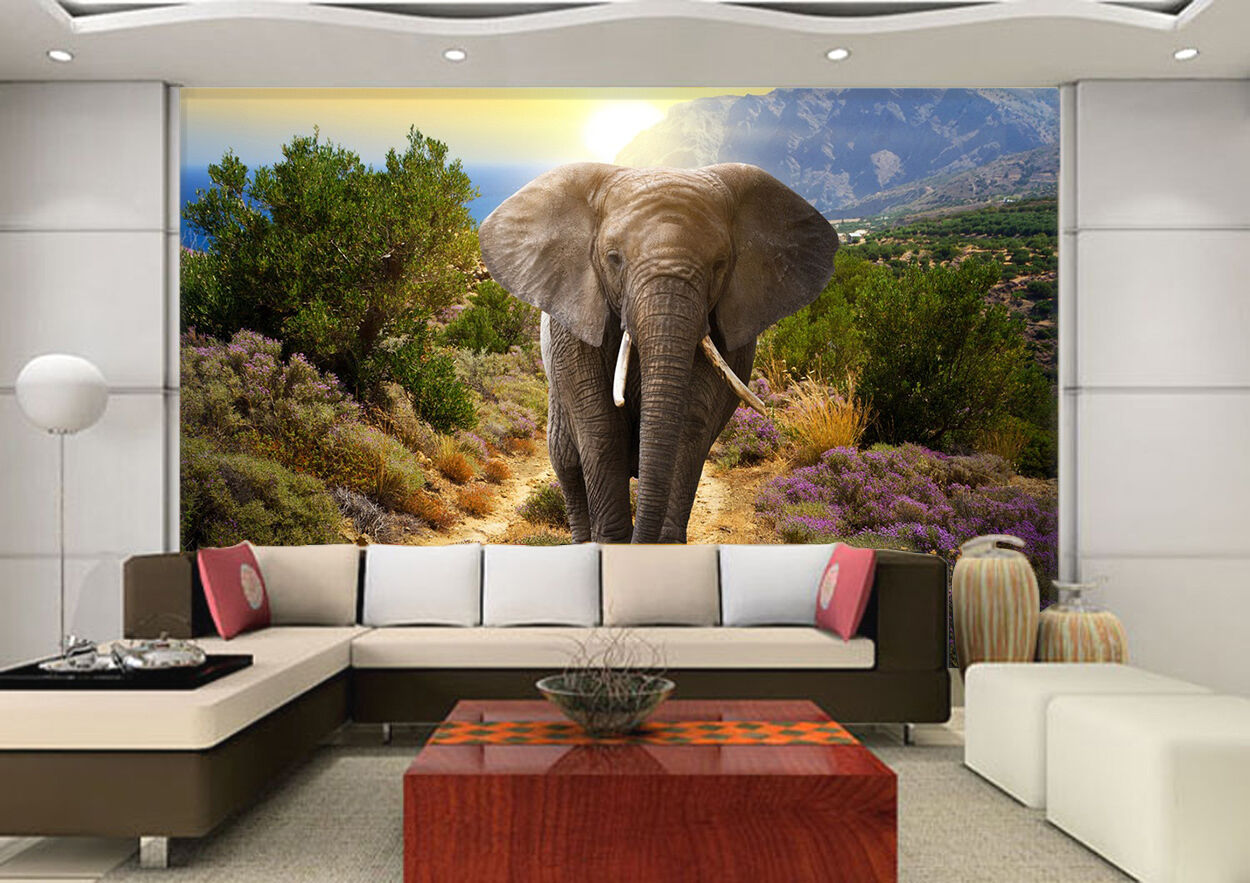 3D Mountain Elephant 2258 Paper Wall Print Wall Decal Wall Deco Indoor Murals