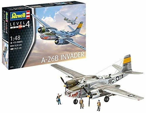 Revell 1 48 A-26B Invader Aircraft Model Kit - 03921