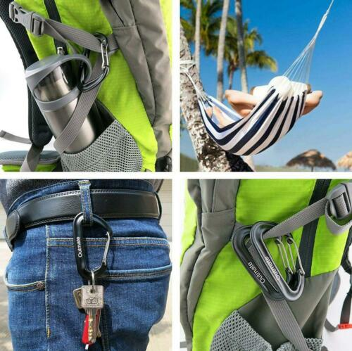 Outmate Carabiner Clip,12kN Aluminium Alloy Carabiners,Heavy Duty Clips...