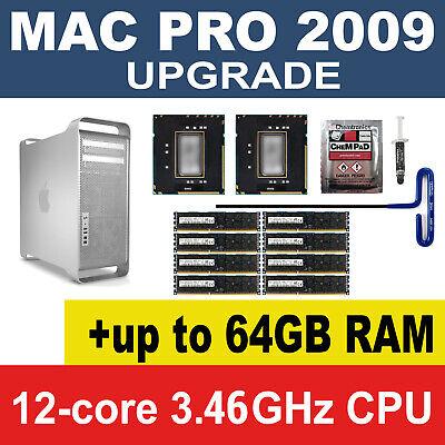 Twelve Core 2009 Apple Mac Pro 5,1 X5690 x2 3.46GHz  XEON CPU 4,1 Upgrade Kit 12
