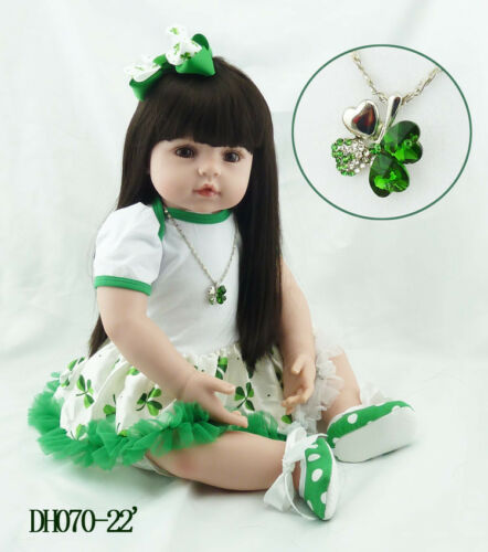 22 Inch 55cm Realistic Looking Baby Girl Real Lifelike Reborn Doll Toddler Gifts